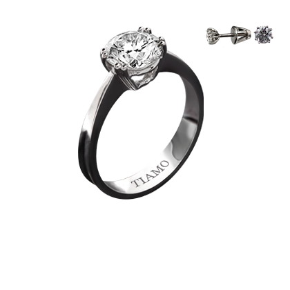 356ae913e027 помолвочное кольцо TIAMO T-248, каталог помолвочных колец TIAMO ...