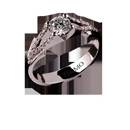ddd079130c5e помолвочное кольцо TIAMO Т-387 51, каталог помолвочных колец TIAMO ...