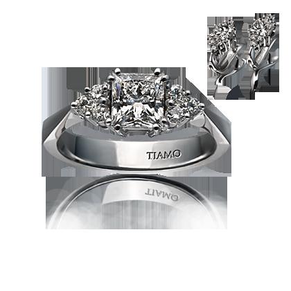 ef27058dddcc помолвочное кольцо TIAMO PL-3, каталог помолвочных колец TIAMO ...